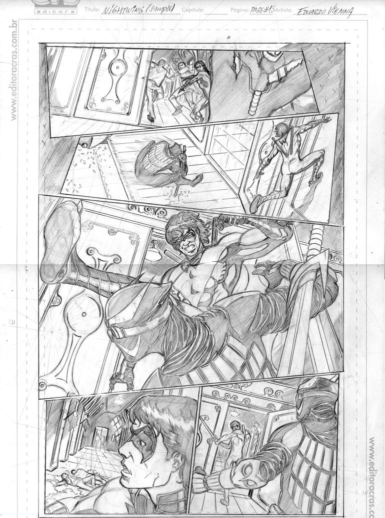 Eduardovienna Nightwing#8(try Out) Page15 Pencil by Vienna79