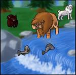 Fish in the Stream 1 by Berkelis