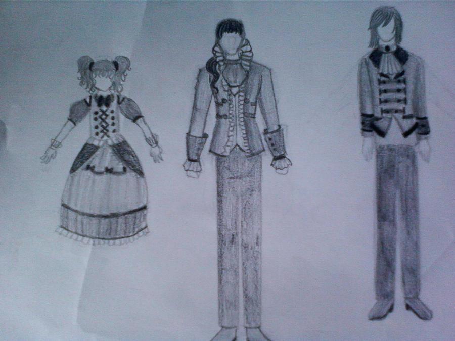 Character design, vampiretale by SilverlyDragon
