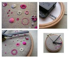 Circles and Dots Wall Clock by MasonBee