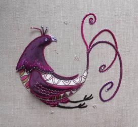 Paradise Bird Stumpwork Embroidery
