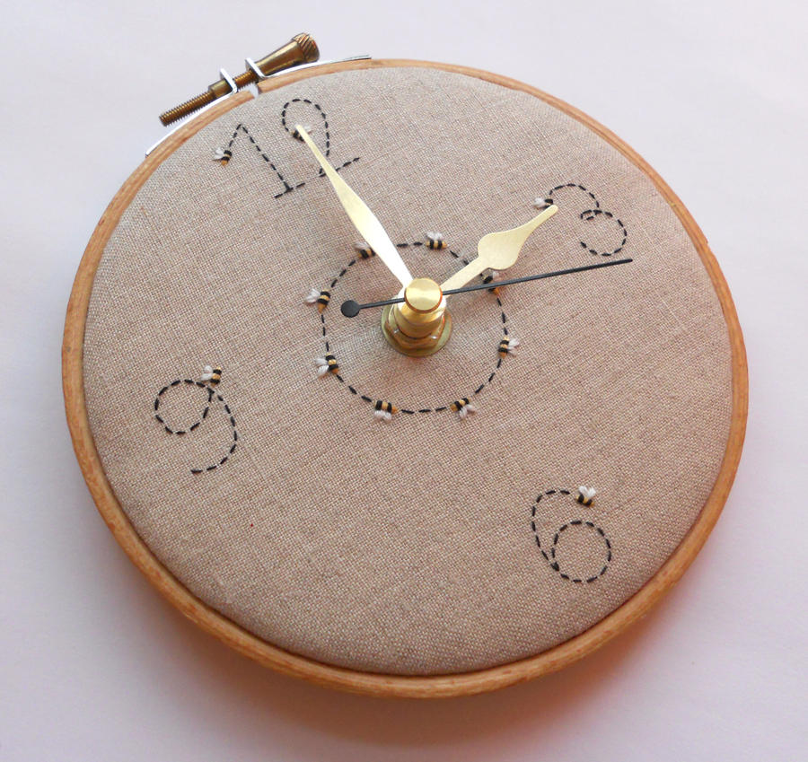 Ring of Bees Wall Clock by MasonBee
