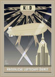 Imperial Airship Service Art Deco Poster