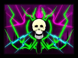 NEON DEATH'S HEAD