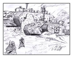 Landships on the Move