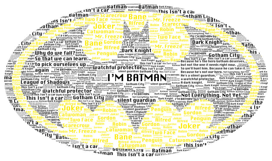Batman Logo Typography By Thomasdriver On Deviantart