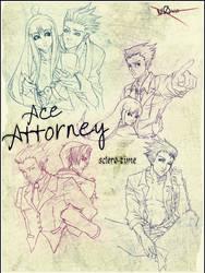 Ace Attorney sclero-time. by DeidaraIruka