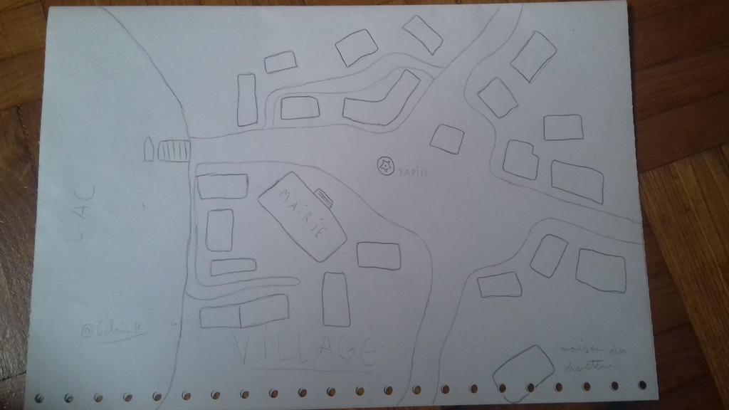 Un noel d'enfer : le village (carte) by ColrinP