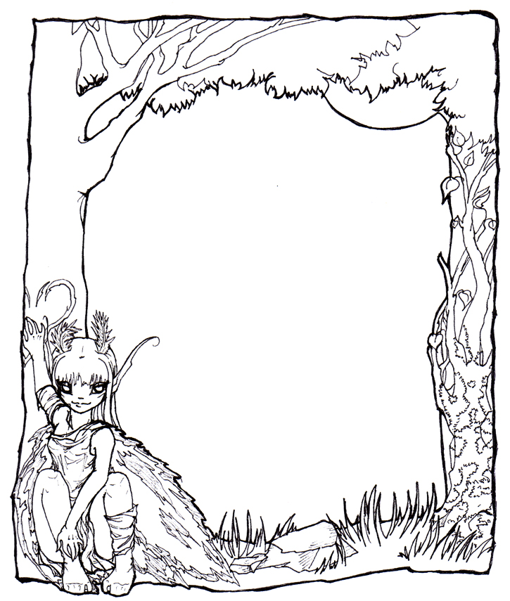 wide frame coloring pages christmas - photo#32