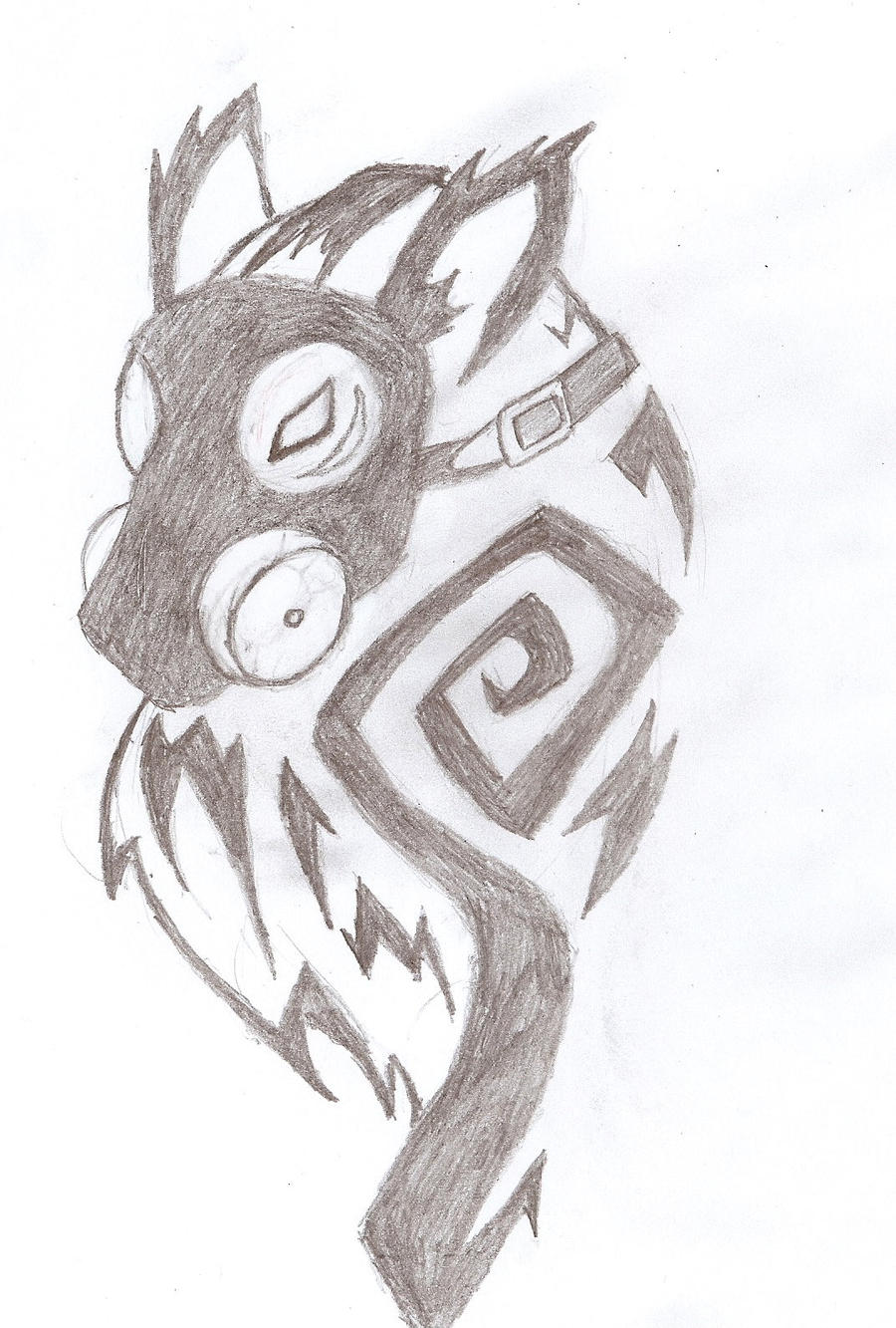 gas mask wolf tattoo concept -1 by arcanineryu on DeviantArt Gas Mask Tattoo Sketch