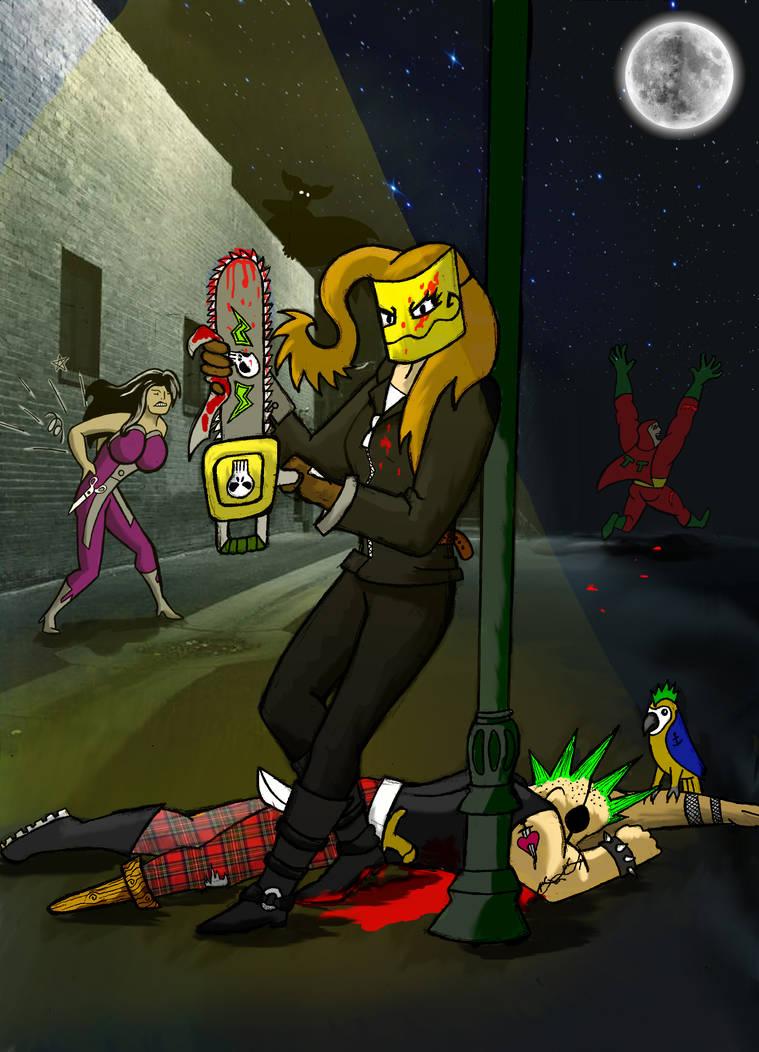 Chainsaw Vigilante Poster (sorta) by arcanineryu