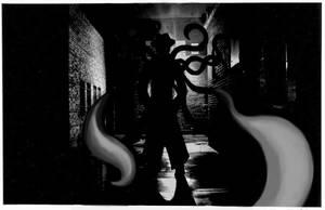 In A Dark Alley by arcanineryu