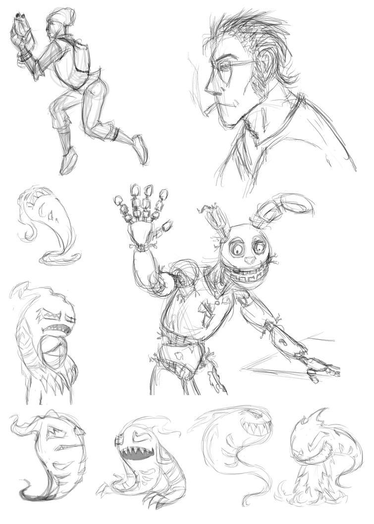 Sketch Dump 11 by arcanineryu