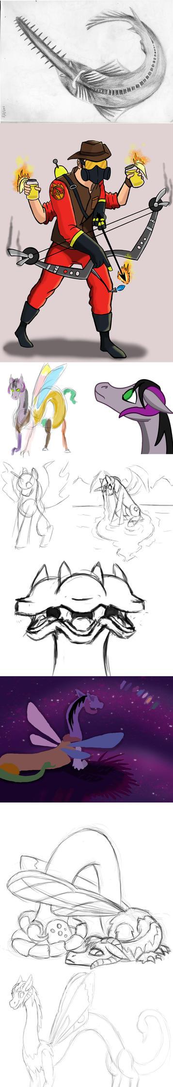 Sketch Dump13 by arcanineryu