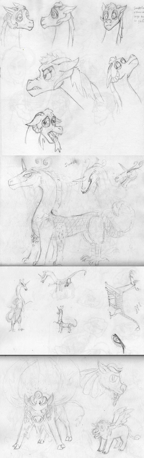 Sketch Dump 15 by arcanineryu