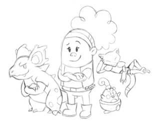 Captain Underpants Pokemon Erica Wang by arcanineryu