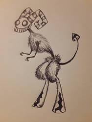 Early Inktober: Burton Critters #9: Jesti