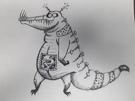 Early Inktober: Burton Critters #14: Patchy