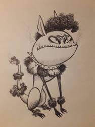 Early Inktober: Burton Critters #15: Precious