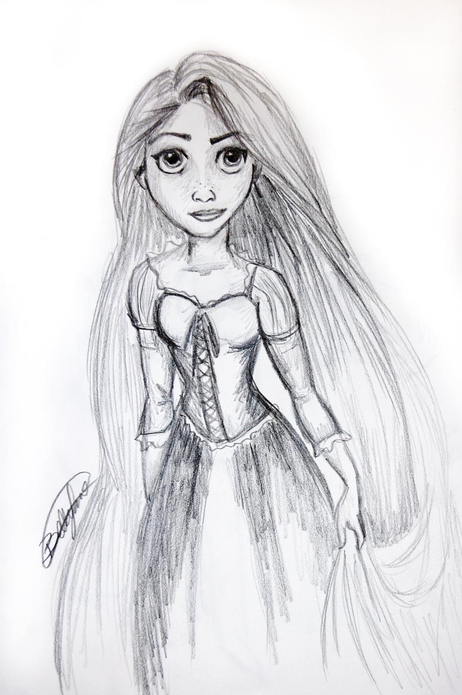 Rapunzel Sketch by whimsical-wanderings on DeviantArt
