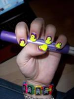 Ducky Nails XxX by WhiteWolfEm