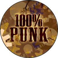 100 Percent Punk button