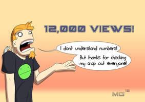 12,000 views!? by Gx3RComics