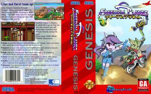Freedom Planet SEGA Genesis boxart by Gx3RComics