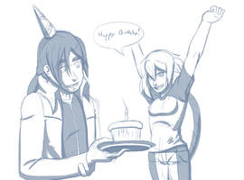 Sky Birthday surprise! by Gx3RComics