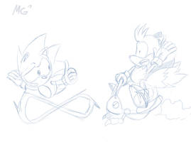 Sonic and Tails work in progress by Gx3RComics