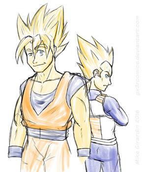 Goku and Vegeta are SSJ 'pals'