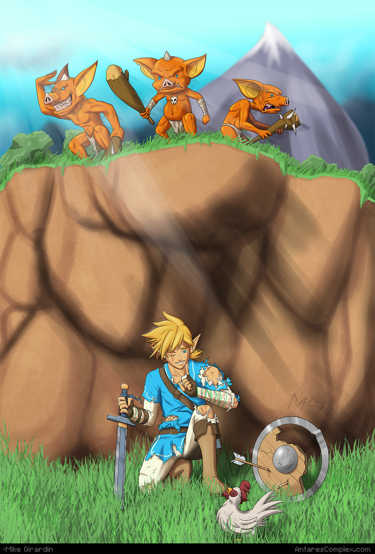 Link's first day out in Breath of the Wild- Zelda by Gx3RComics