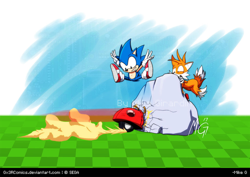 Sonic and Tails Sonic Mania by Gx3RComics