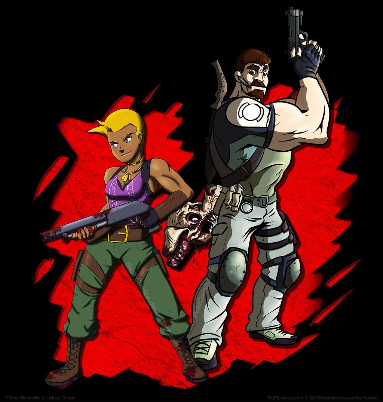 Resident Evil 5 Let's Play fanart. by Gx3RComics