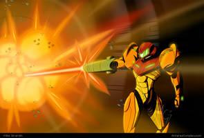 Samus Super Missile! Metroid fanart by Gx3RComics