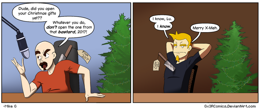 2017 sucked. A x-meh gift from me to PoM Comic by Gx3RComics