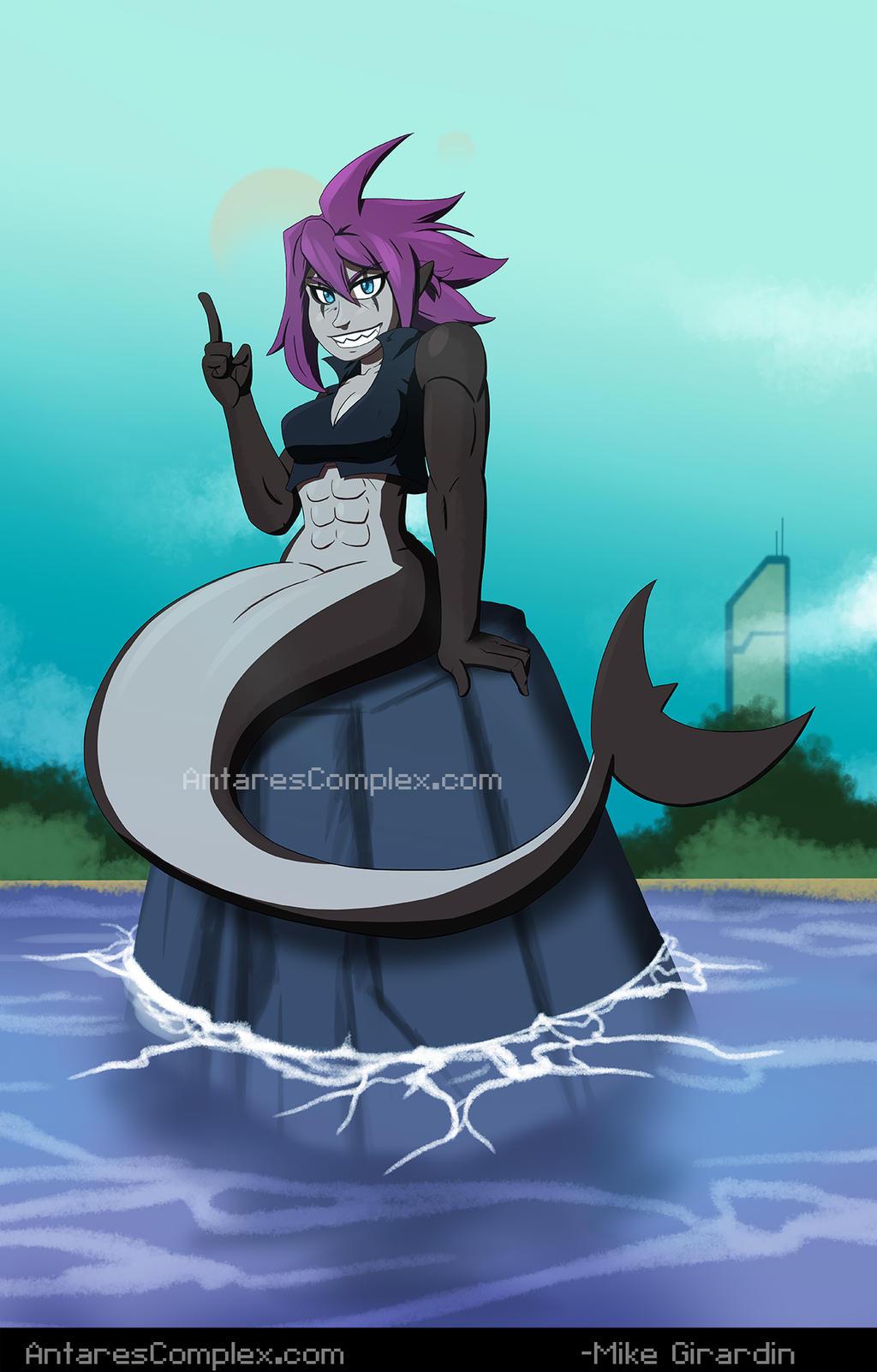 Shark Mermaid Neige by Gx3RComics