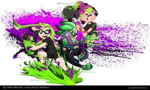 Splatoon Inkling collab with friends