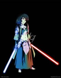 Star Wars OC Commission Valencia light-saber on