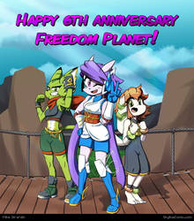 Freedom Planet 6th anniversary