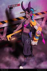 Cyborg Demon Girl