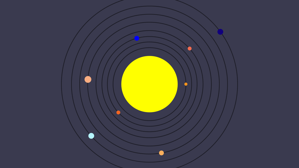 [OC] Solar System 8k Minimalist {Wallpaper} By Total-Chuck
