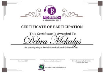 Redefinition Certificate