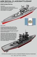 Ark Royal Class Battleship by Stealthflanker