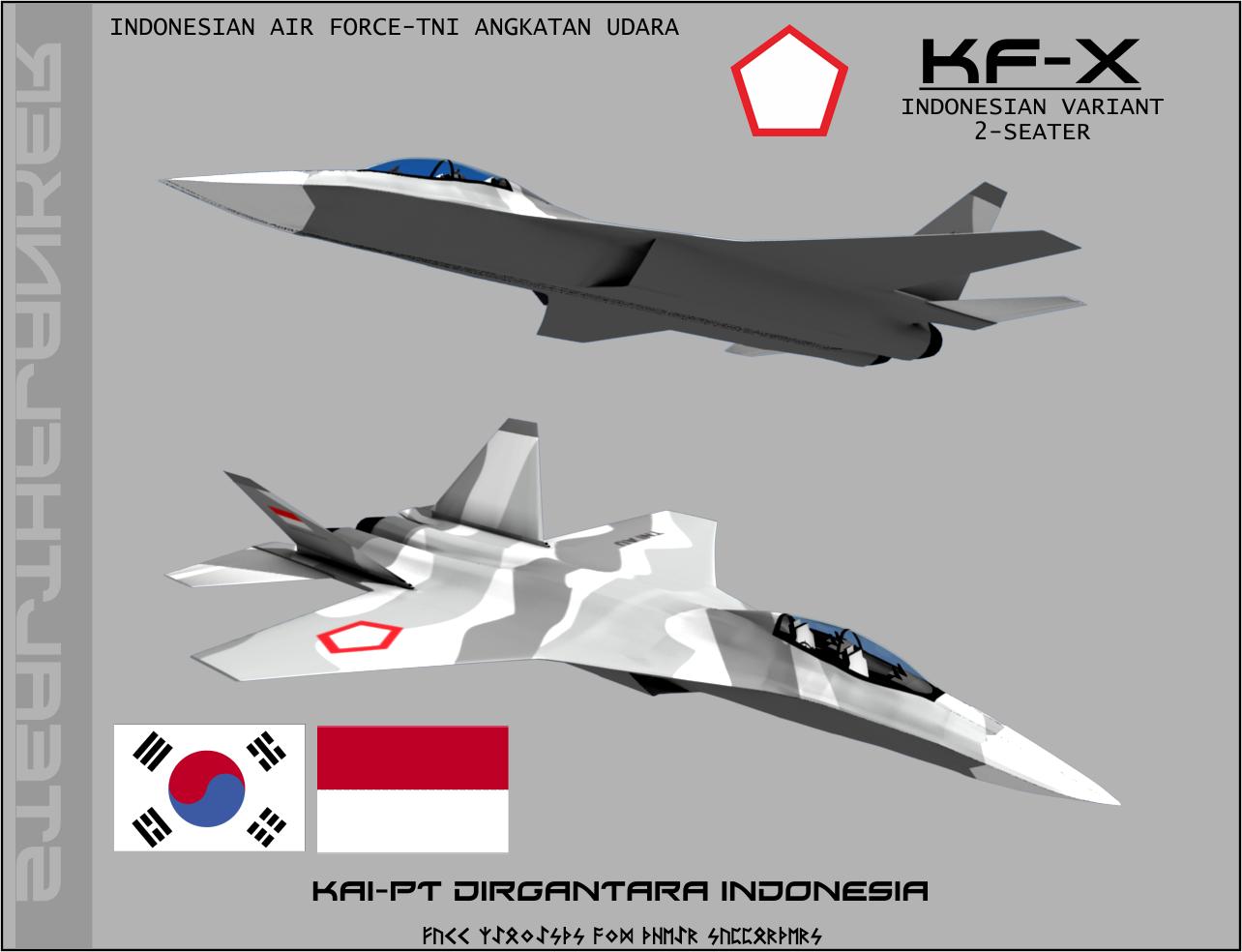 كوريا الجنوبيه ستعرض على لوكهيد مارتن الامريكيه الاستثمار في طائره KF-X  Kf_x_indonesian_variant_2_seater_by_stealthflanker-d4v6b8v