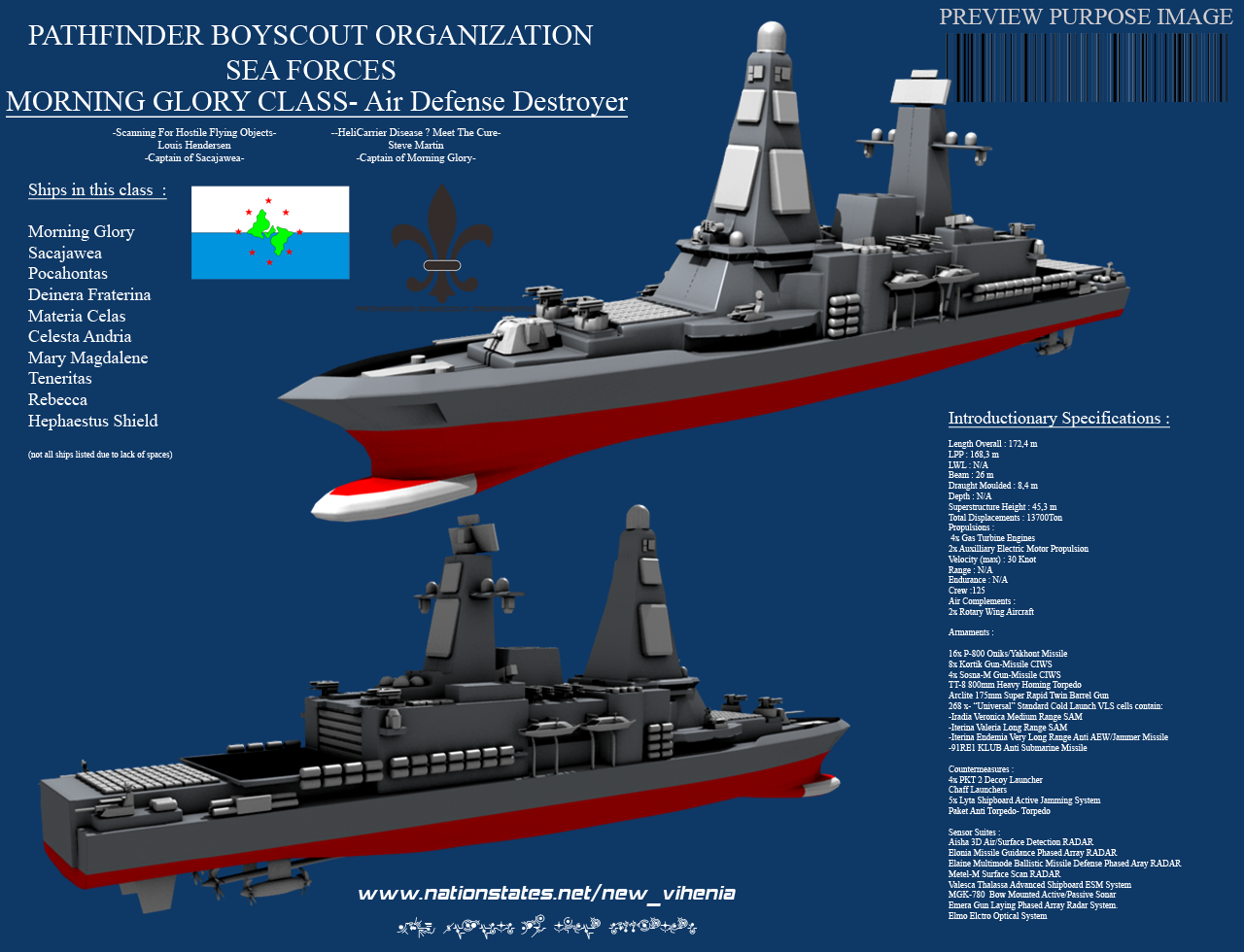 Morning Glory Class Air Defense Destroyer By