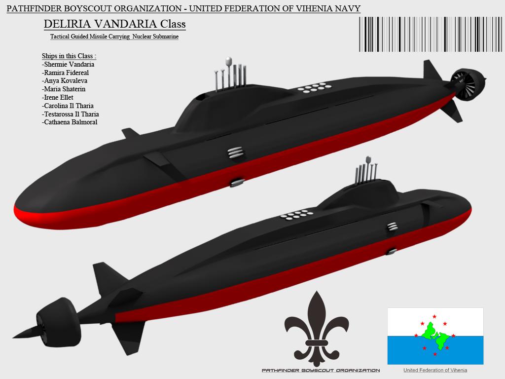 Deliria Vandaria Class Nuclear Submarine by Stealthflanker