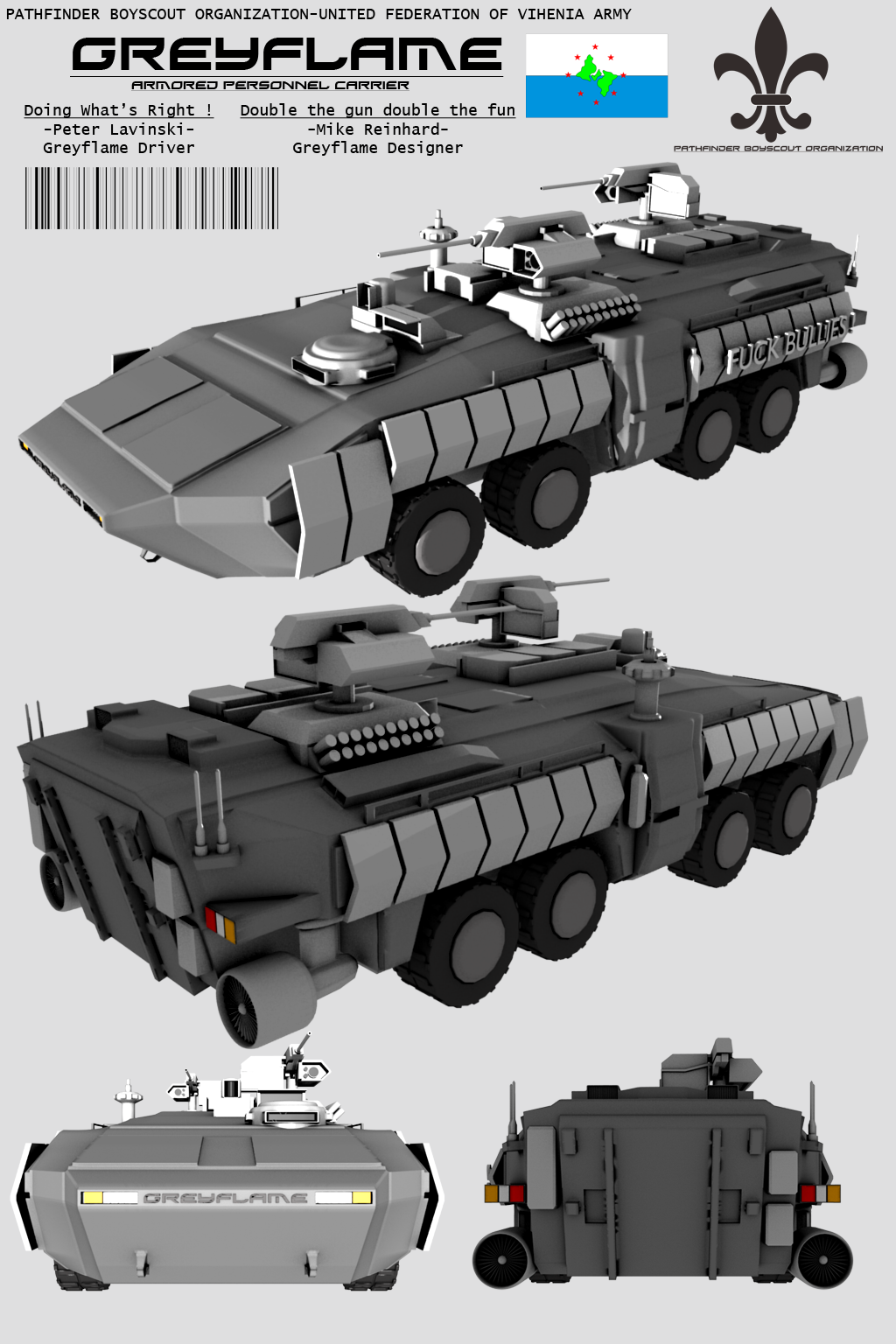 Concept n_n - Page 4 Greyflame_armored_personnel_carrier_by_stealthflanker-d57c9lp