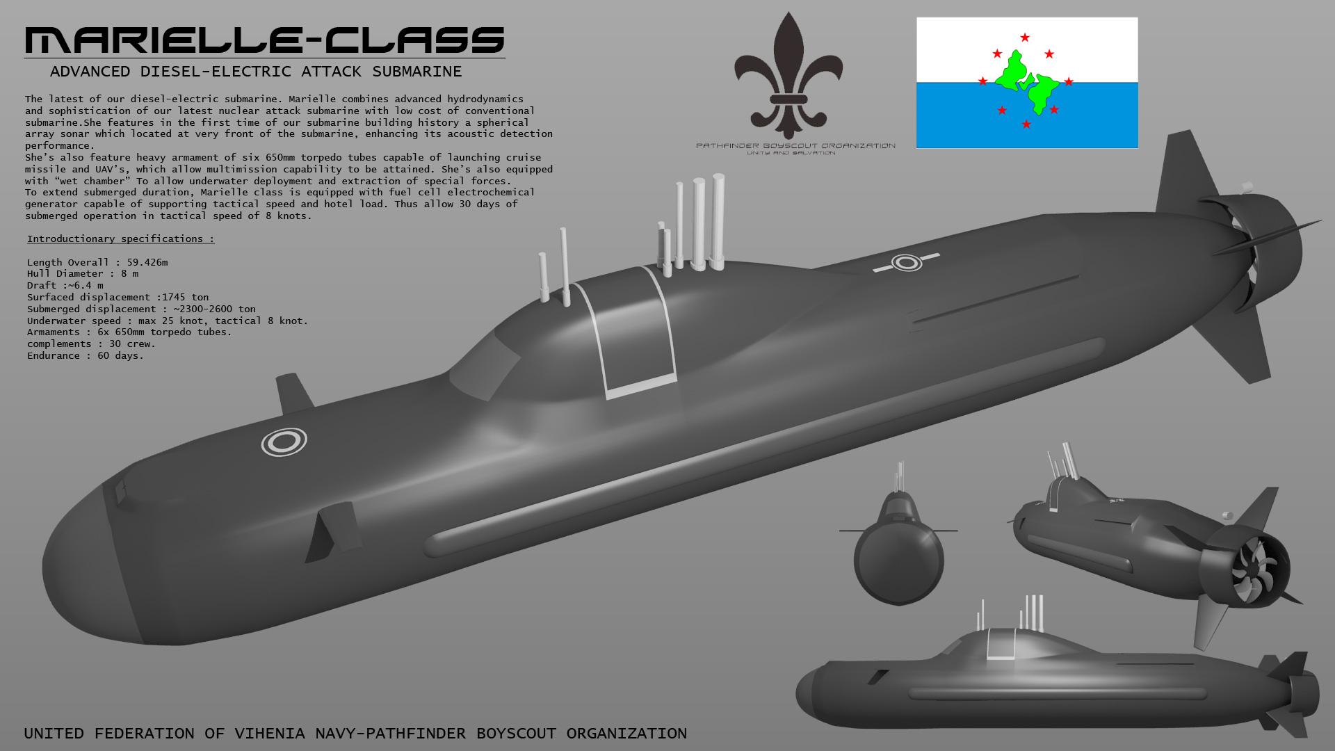 Marielle Class Submarine by Stealthflanker on DeviantArt
