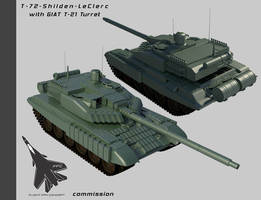 T-72-T-21 Shilden Leclerc by Stealthflanker